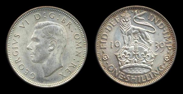 GREAT BRITAIN, 1 shilling, 1939