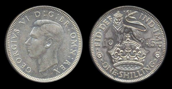 GREAT BRITAIN, 1 shilling, 1945