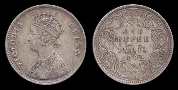 INDIA, REGAL, 1 rupee, 1862 (1863-74 AD), Calcutta mint