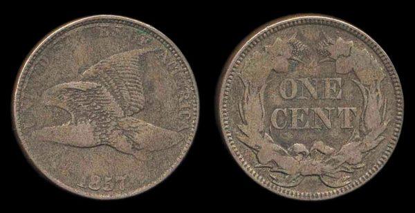 USA, 1 cent, 1857