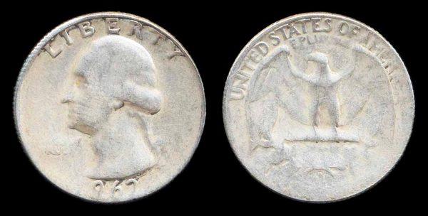 USA, 25 cents, 1962 D