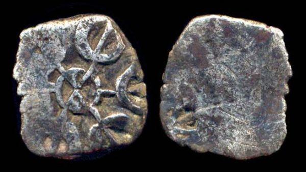 TAXILA-GANDHARA, circa 450 BC, silver 1/16 satamana
