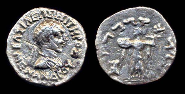 INDO-GREEK, Menander, circa 160-145 BC, silver drachm