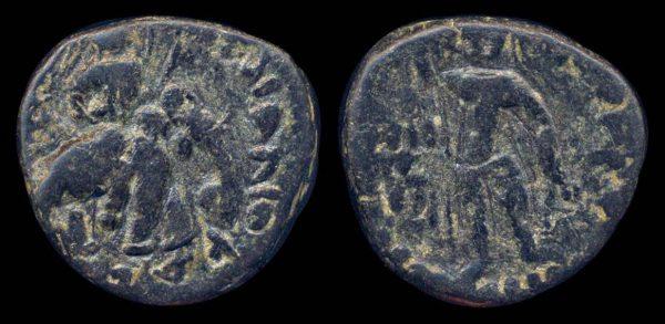 KUSHAN, Huvishka, 158-195 AD, bronze unit