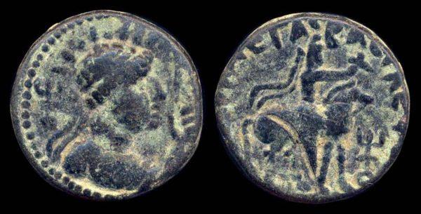 KUSHAN, Soter Megas, c. 55-105 AD, bronze tetradrachm