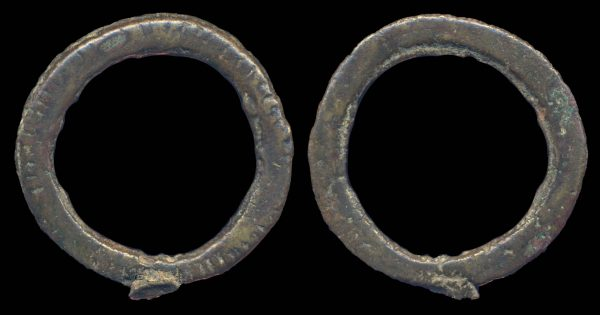 MONGOLIA, bronze ring ingot, circa 1-200 AD