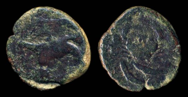 SICILY, AKRAGAS, bronze hexas, no date (425-406 BC)