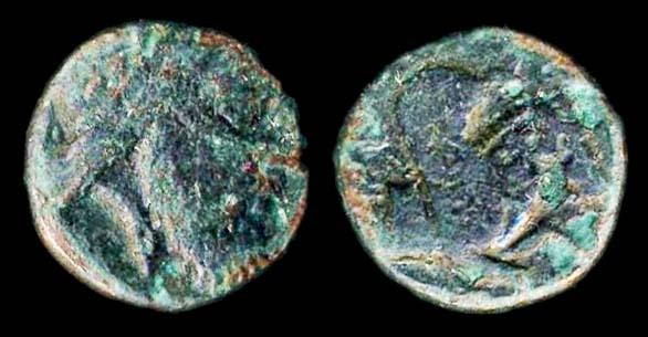 MYSIA, LAMPSAKOS, Satrap Orontas in revolt against Persia, 4th c. BC, bronze