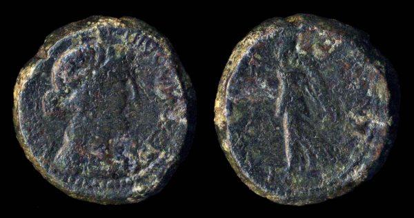 LYDIA, NYSA, Faustina Junior, 147-180 AD, bronze minor