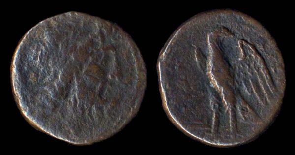 GREEK ITALY, BRUTTIUM, bronze, 5th century BC