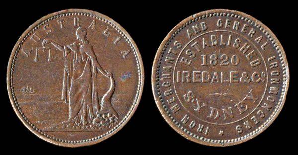 AUSTRALIA, merchant token, mid-19th century