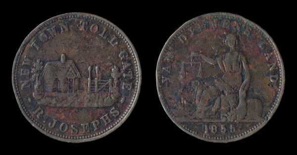 AUSTRALIA, merchant token, 1855