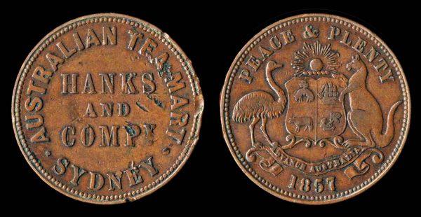 AUSTRALIA, merchant token, 1857
