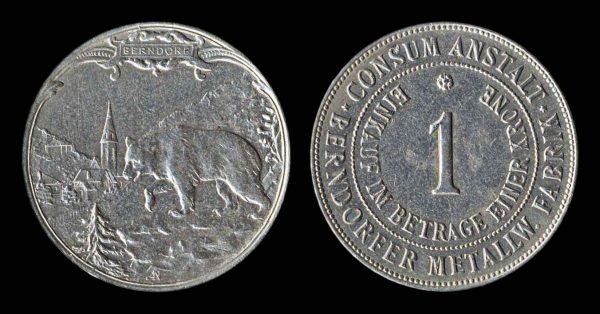 AUSTRIA, factory canteen token, early 20th century
