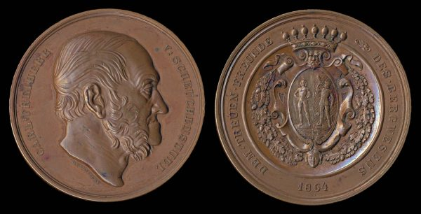 AUSTRIA, large bronze medal, 1864