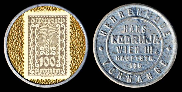 AUSTRIA, encased postage, (1922)