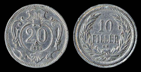 AUSTRIA, altered coin, turn of the 20th century