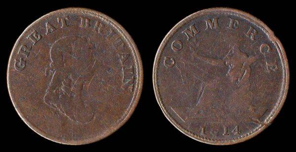 CANADA, copper token, 1814