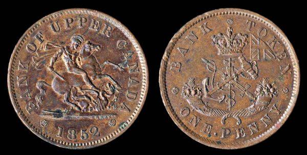 CANADA, ONTARIO token, 1852