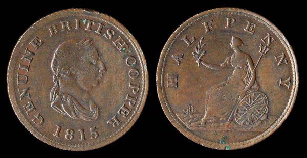 CANADA, NOVA SCOTIA token, 1815