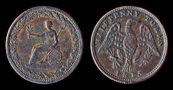 CANADA, MONTREAL, token, 1815