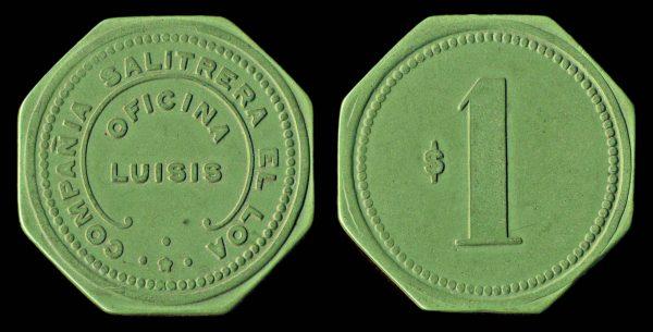 CHILE, vulcanite token
