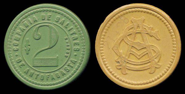 CHILE, vulcanite token (1904-5)