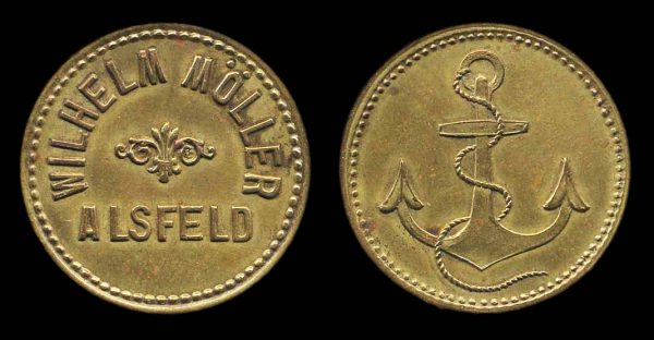 GERMANY, brass token of ALSFELD, late 19th to early 20th century