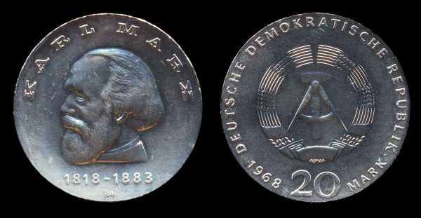 GERMANY, silver 20 mark, 1971