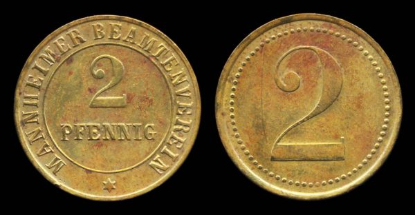 GERMANY, brass token of Mannheim, early 20th century