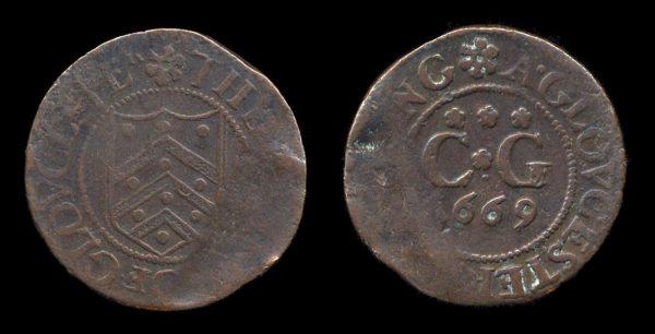 GREAT BRITAIN, GLOUSTER token 1669