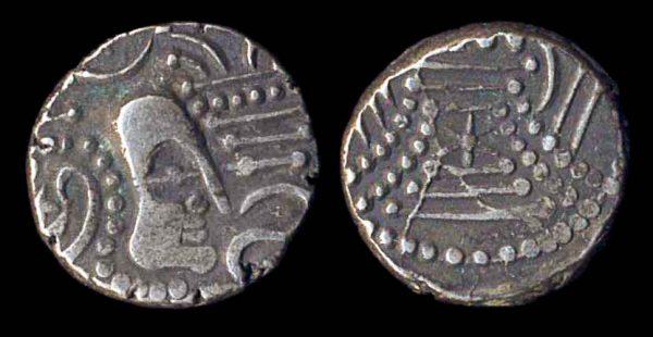 SAURASHTRA-GUJERAT, Chalukya, c. 950-1050, silver gadhaiya paisa