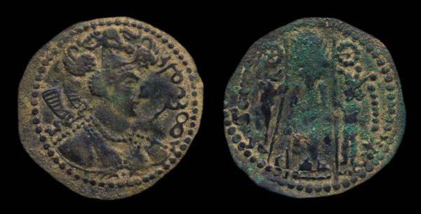 HEPHTHALITE, c. 475-576 AD, billon Napki Malka drachm
