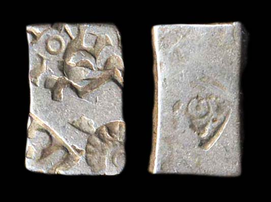MAURYA-SUNGA, time of Ashoka and successors, 270-150 BC, silver punchmarked karshapana