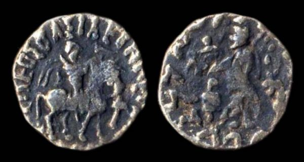 SCYTHIAN, Azes, first century BC, billon drachm