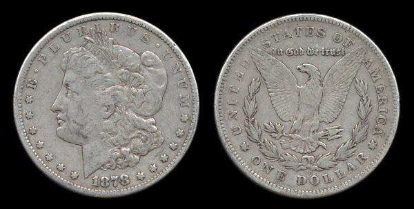 USA silver dollar 1878 CC