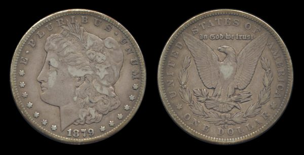 USA silver dollar 1879 CC