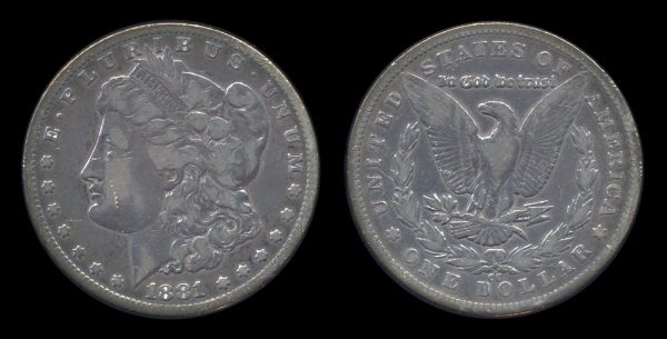 USA silver dollar 1881 CC