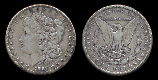 USA silver dollar 1889 CC