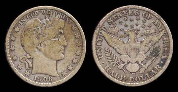 USA, silver 50 cents, 1906 D