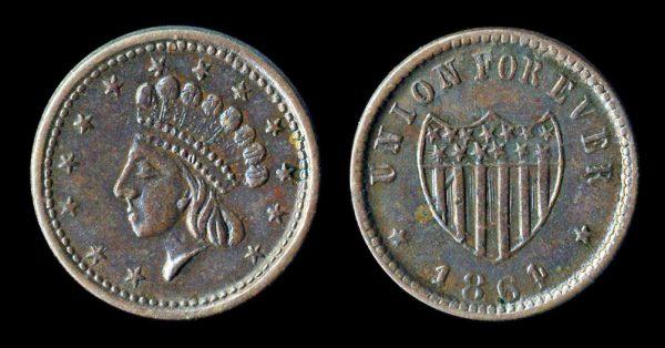 USA, Civil War token, 1864