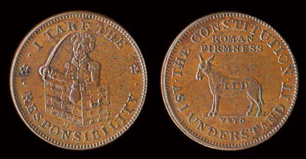 USA, Hard Times token (1833)