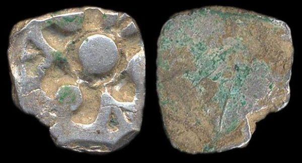PANCHALA, silver, punchmarked karshapana, c. 300 BC