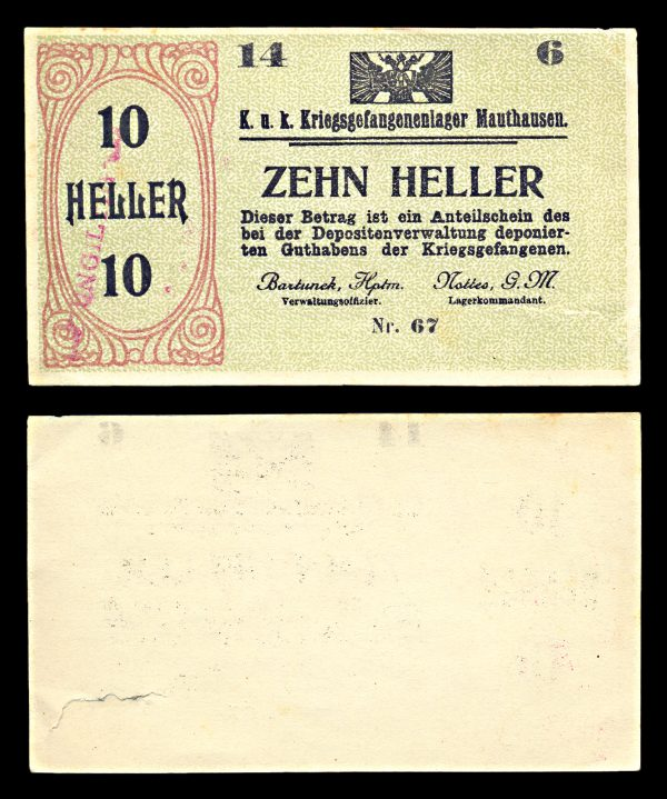 AUSTRIA, MAUTHAUSEN Prisoner of War camp 10 heller