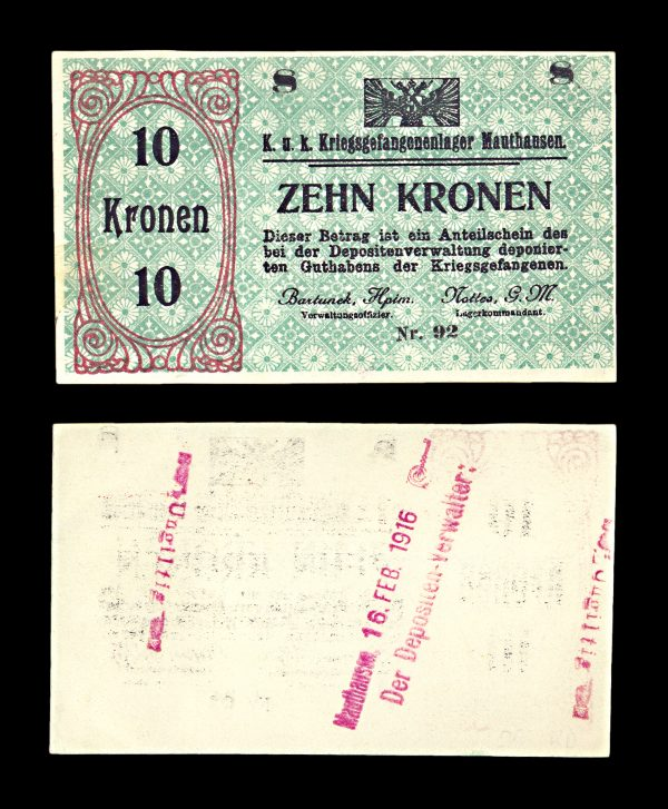 AUSTRIA, MAUTHAUSEN Prisoner of War camp 10 kronen