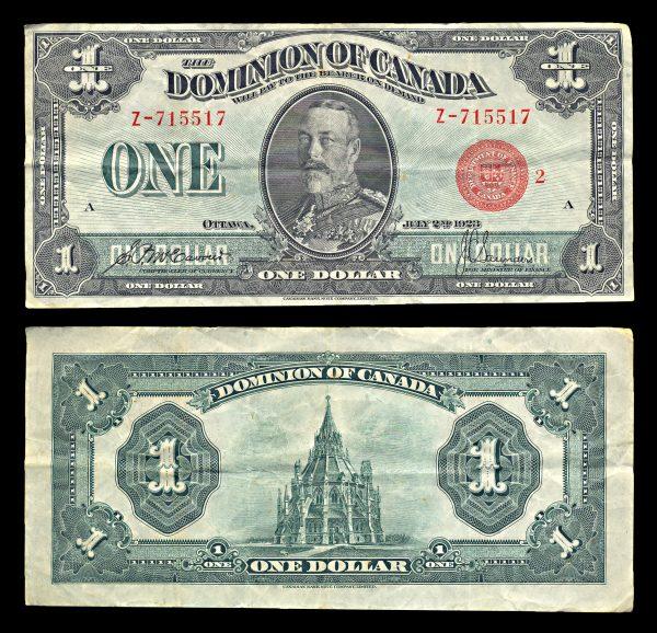 CANADA, 1 dollar 1923