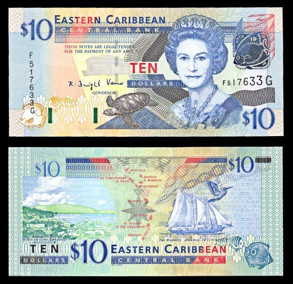 EAST CARIBBEAN STATES, 10 dollars (2000)