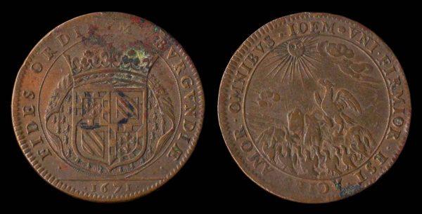 FRANCE, Burgundy jeton 1671