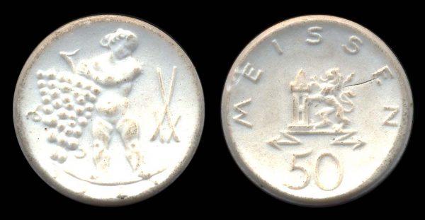 GERMANY, MEISSEN, white porcelain notgeld 1921