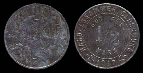 GERMANY, OLDENBURG notgeld 1917
